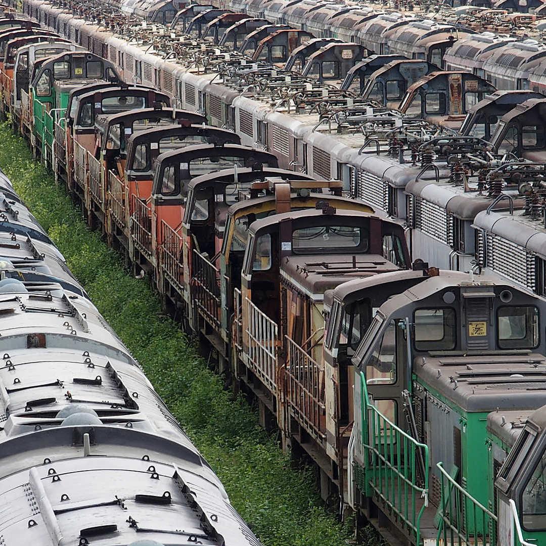 Un Regard Sur Le Rail - Depot de locomotives desafectees